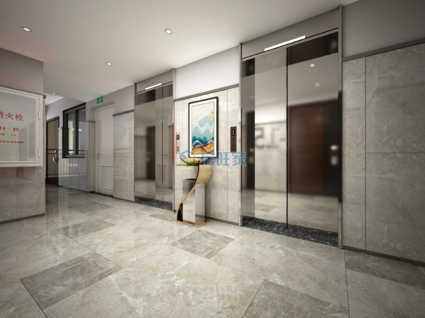 悦居山海间2号楼电梯厅效果图