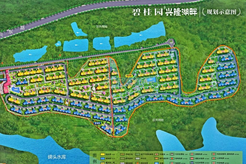 碧桂园兴隆湖畔平面图
