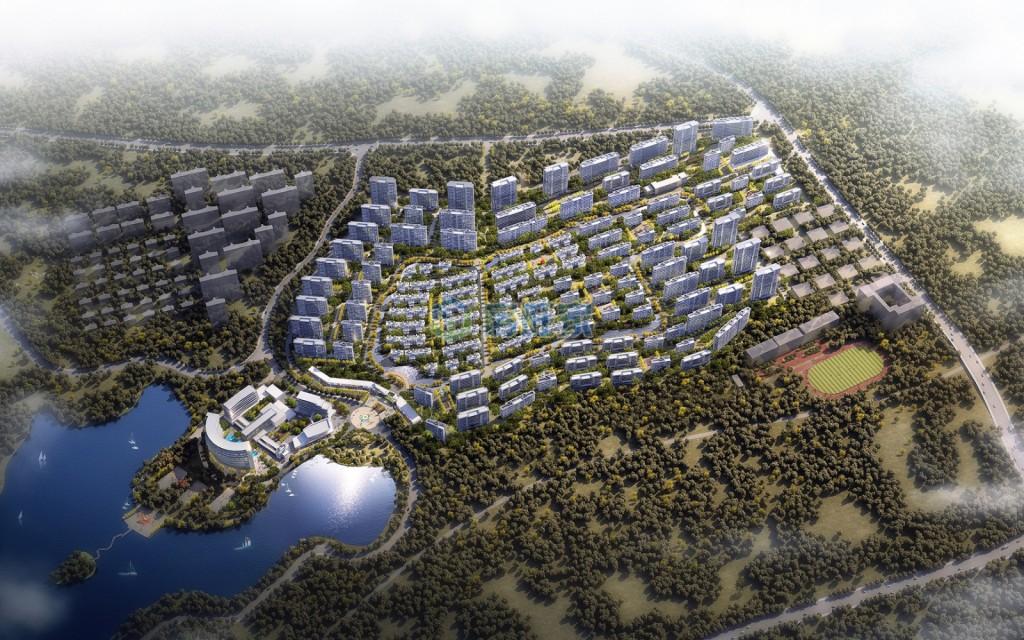 鸿基湖畔新城平面效果图