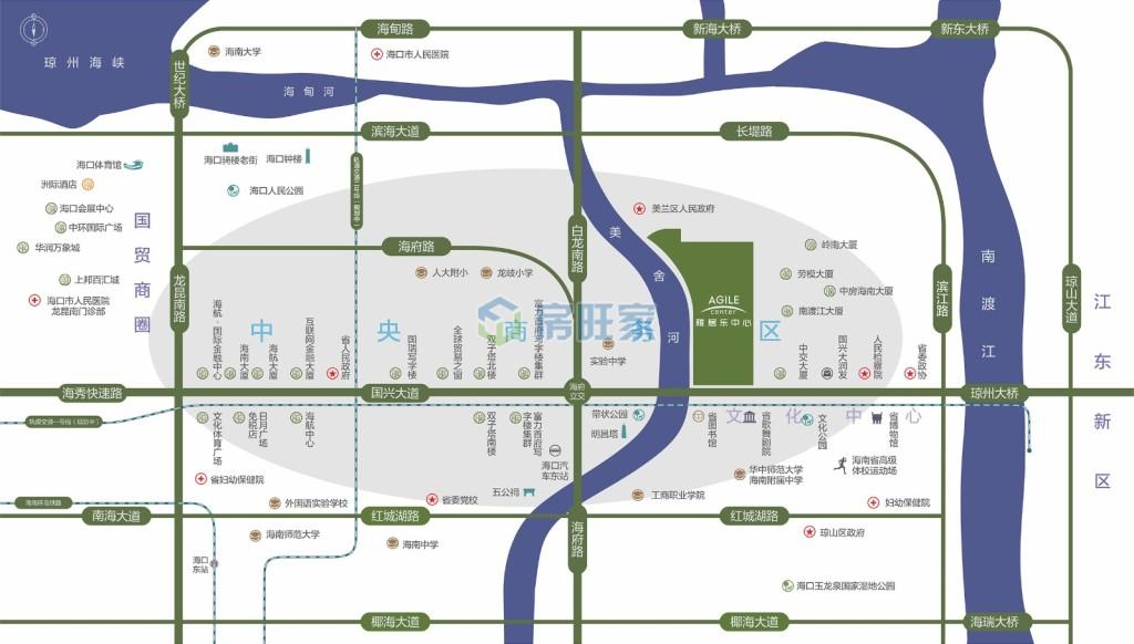 海口雅居乐中心区位图
