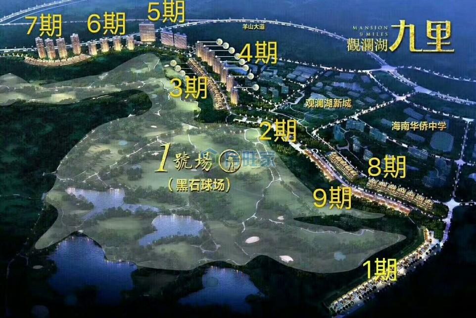 观澜湖九里整体规划图